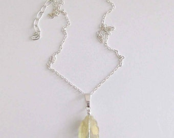 Light Yellow Crystal Necklace