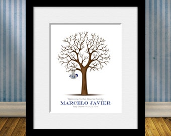 Special Occasion Thumbprint Tree, Baby Shower Guest Book Thumbprint Tree, Thumbprint Tree Guestbook, Baby Gift, Personalized Baby Gift Print