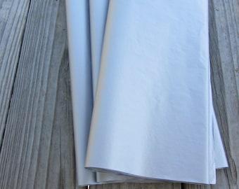 "Tissue Paper / 20 Sheets Metallic Silver Tissue Paper 20""x30"""