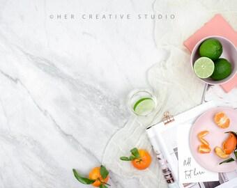 Styled Stock Photography | Flatlay Image | Citrus Inspired Image | Styled Photography | Digital Image