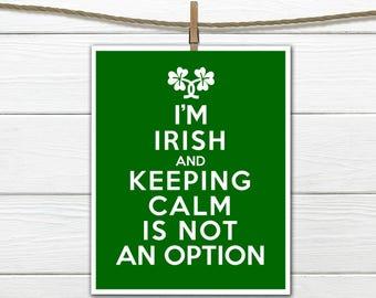 St. Patricks Day Decor Subway Art Instant Download Irish Keep Calm