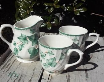 creamer and cup set
