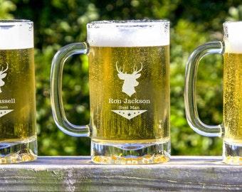 Groomsmen Beer Mugs,  Cool Groomsmen Gift, Personalized  Beer Glass, Groomsmen Gifts, Wedding Toast, Beer Mugs, 11 Personalized Beer Mugs