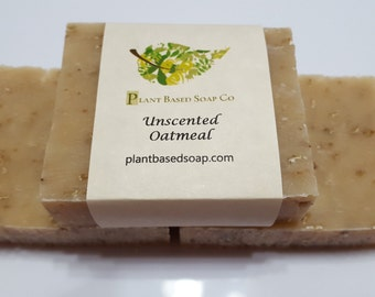 Oatmeal Soap with Goats Milk Soap, Goats Milk, Sensitive Skin Soap, Unscented Soap, Cold Process Soap, Moisturizing Soap, Natural Soap