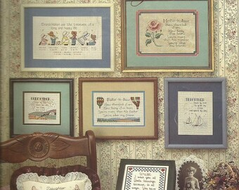 "Vintage Leisure Arts ""Family"" Cross Stitch Leaflet"