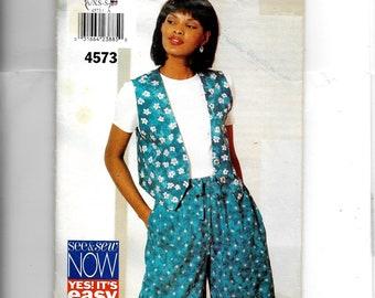 Butterick Misses'Vest and Shorts Pattern 4573