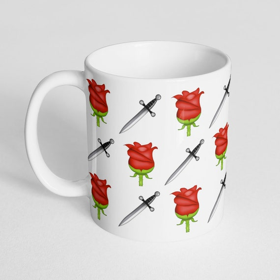 Coffee Mug Rose and Dagger Tattoo Larry Stylinson Cup