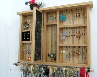 Earring holder, bangle holder, post earring holder, necklace holder you choose your own color options