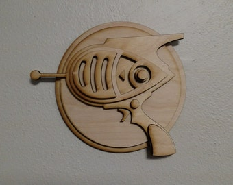 Raygun Wall Art, Kids Room, Playroom, Wood Wall Art