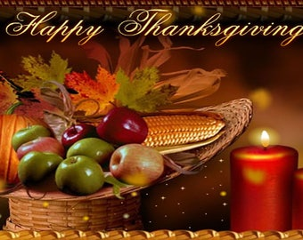 Banner Personalized 4ft x 2 ft Thanksgiving