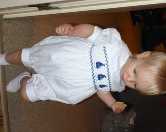 Smocked Sailboat Romper - just like Prince George!