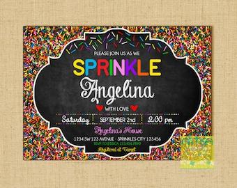 Baby Sprinkle Invitation, baby sprinkle printable invitation, sprinkles invitation, sprinkle baby shower invitation, baby sprinkle, colorful