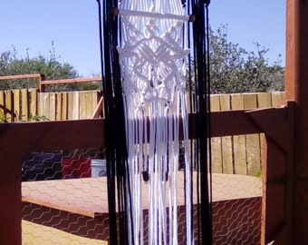 Cow Skull Weaved and Knotted Macrame Curtain