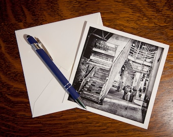 1311 LaSalle and Van Buren Black and White Fine Art Note Cards Single Cards or 5 pack- Vintage Look - Chicago, Illinois