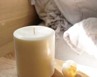 4'' x 4'' Soy Pillar Candle, Choose Your Scent/Unscented and Color