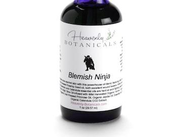 Organic Blemish Ninja Oil Serum, SAMPLE, Acne serum, pimple serum, Cystic acne, weeping acne, acne scar oil, acne spot treatment