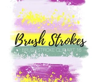 paint blob clip art - paint splat clip art - brush strokes clip art - paint splatter clip art -Commercial Use