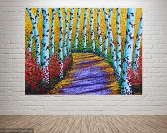 "Living Room ARTWORK   Living Room Wall Art   Acrylic Artwork   Wall Art Painting   Living Room Art Painting   Wall Art ""A purple trail"""