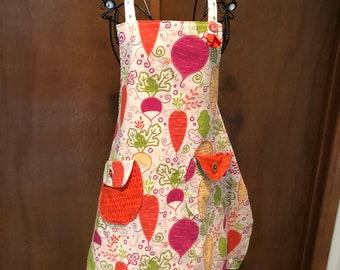 Happy vegetable apron