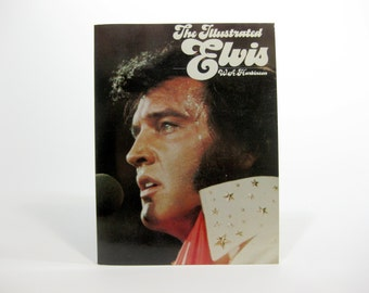 Vintage 1970s Elvis Presley - The Illustrated Elvis,  by W.A. Harbinson - Elvis Presley Photos - Softcover Book - Today Press