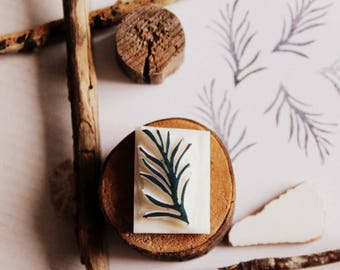 Carved stamp leaf handmade