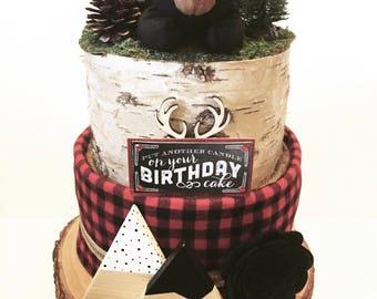 MADE TO ORDER - Lumberjack Diaper Cake
