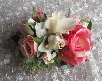 WRIST CORSAGE pinks birthday prom wedding
