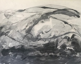 30x40 Black White Abstract