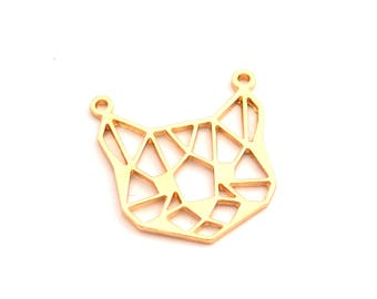 Golden origami cat connector