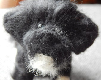 Custom needle felted Tibetan terrier sculpture - needle felted original puppy soft sculpture. Needle felted dog