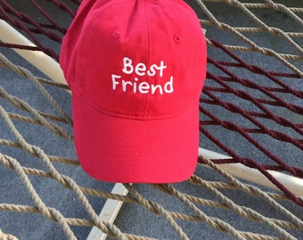 Best Friend - Red Hat With White Lettering
