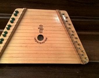 Vintage Melody Harp. Perepelochka. Made in Belarus