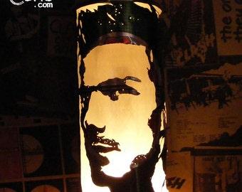 David Beckham Beer Can Lantern: Manchester United, England Pop Art Portrait Lamp - Unique Gift!