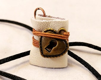 Mini Journal Book Necklace