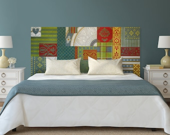 Patchwork Painted Bed headboard