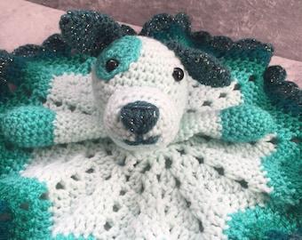 Crochet puppy amigurumi lovey Comforter blanket SPOT