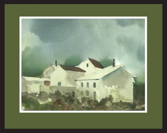 Time For Dreaming     Watercolor      Barns      Painting