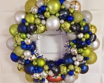 Seattle Seahawks Christmas Wreath