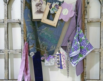 inspiration kit No056 - purple floral rhinestone