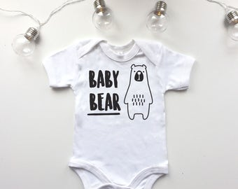 Baby Bear Bodysuit - cute babygrow, bear bodysuit, fun graphic baby clothes - POM CLOTHING