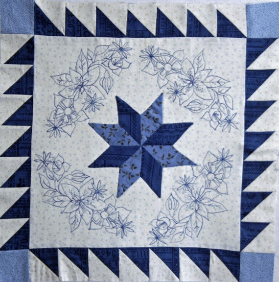 Blueberry Botanical Quilt Block of the Month Block 5