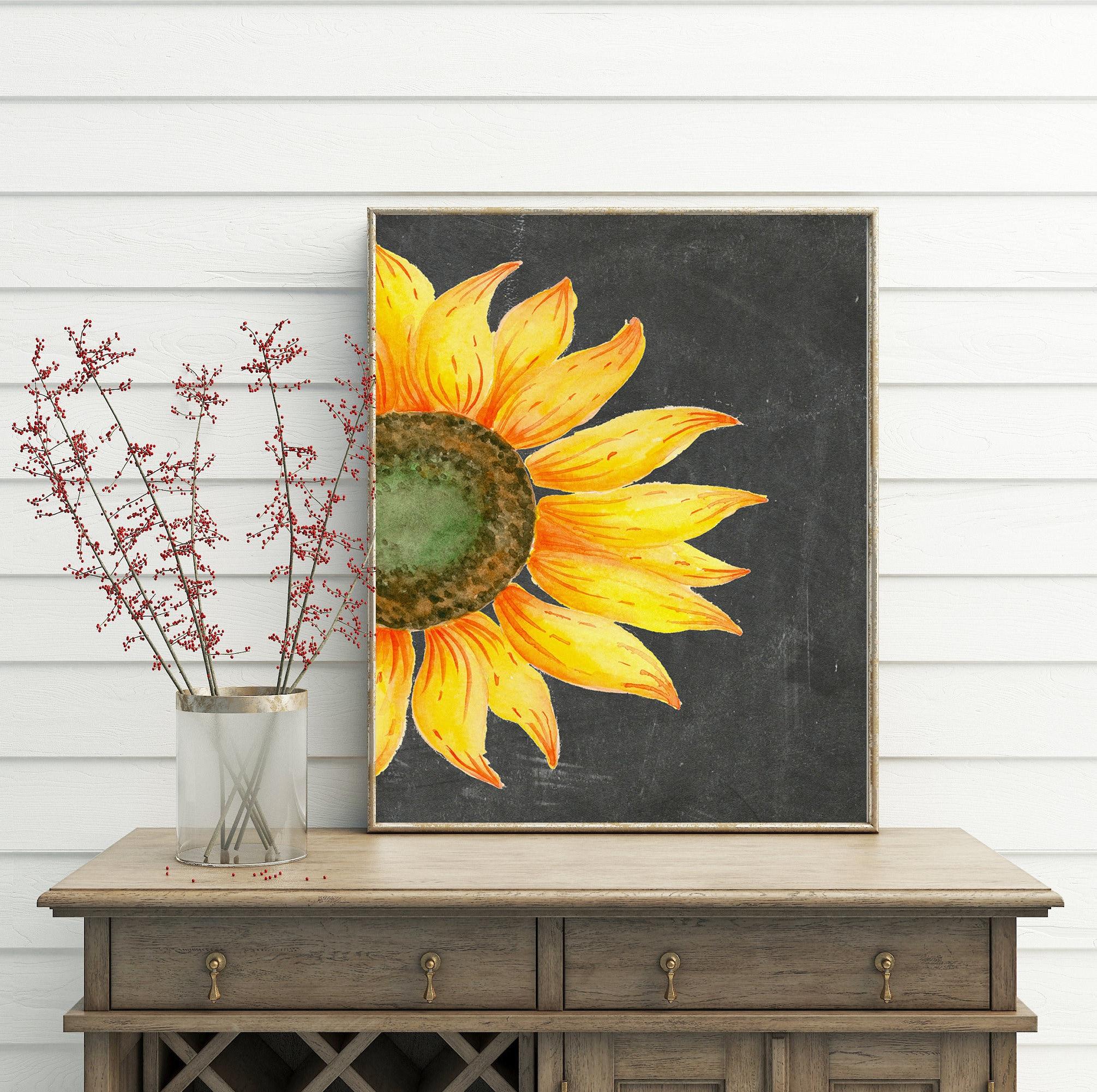 Sunflower Decor printable wall art sunflower print french