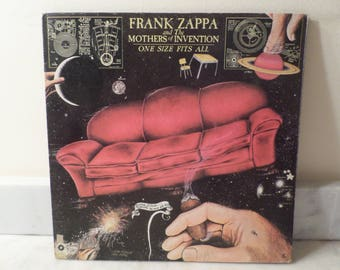 Vintage 1975 Vinyl LP Record One Size Fits All Frank Zappa Mothers of Invention Excellent Condition 14655