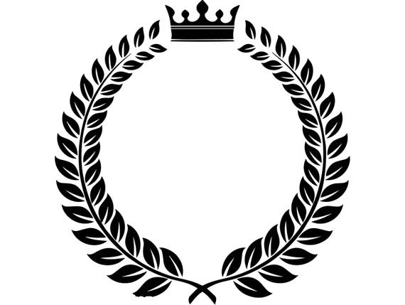 Laurel Wreath Frame Award Branch Winner Champion Trophy