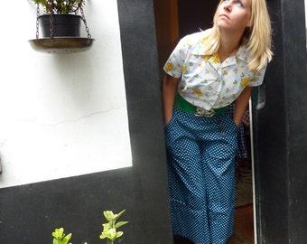 Summer blouse with bloemtjesmotief
