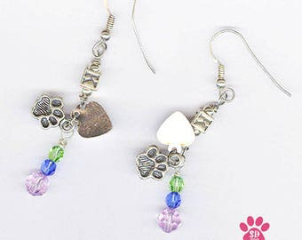 Pet Loss Jewelry, Personalized Pet Loss Jewelry, Pet Memorial Earring, Pet Loss Earring, Earring Pet Memorial, Sterling Silver, Pet Memorial