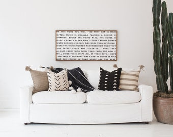 """Family Rules - Jeanne Oliver's """"In This Home"""" - Wood Sign"""
