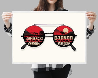Django poster movie -  Home decor Tarantino fan art - Available in different sizes. Check the drop-down menu for your choice