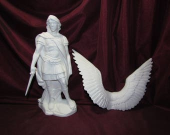 Ceramic Bisque U-Paint Archangel Michael Angel with Sword Unpainted Ready To Paint DIY Doc Holliday
