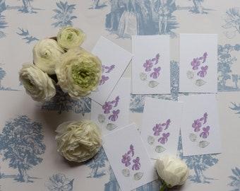 Set of 5 Gift Tags *Violet*